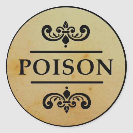 Vintage Apothecary Poison Halloween Stickers Label ...