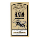 VINTAGE APOTHECARY SPIDER HAIR | HALLOWEEN LABEL
