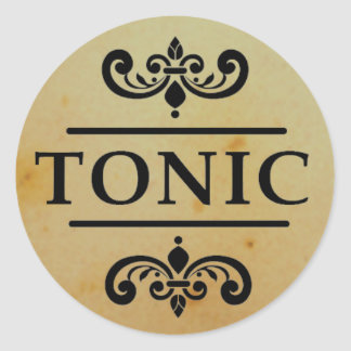 Vintage Apothecary Tonic Bottle Halloween Stickers