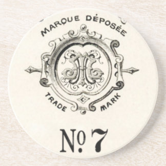 Vintage Apothecary Trade Mark, Number 7 Beverage Coasters