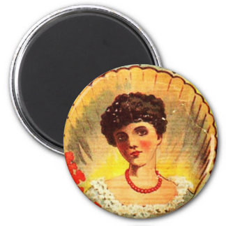 Vintage Apothecary Woman 2 Inch Round Magnet