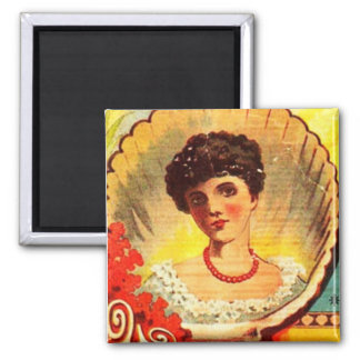 Vintage Apothecary Woman 2 Inch Square Magnet