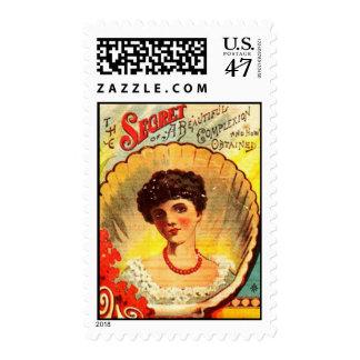 Vintage Apothecary Woman Postage