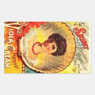 Vintage Apothecary Woman Rectangular Sticker