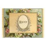 Vintage Apple Blossom, Tea Stained Typography Custom Invitation