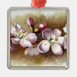Vintage Apple Blossoms Premium Holiday Ornaments