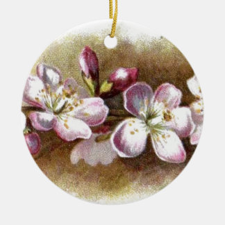 Vintage Apple Blossoms Round Ornaments