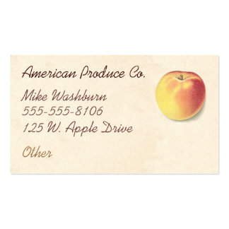 Vintage Apple Business Card Template