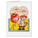 Vintage Apple Of My Eye Valentine's Day Card