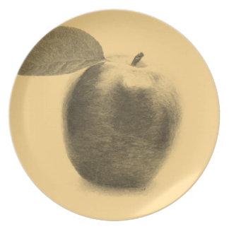 Vintage Apple painting Plate