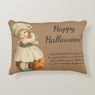 Vintage Apple Peel Tradition Halloween Decorative Pillow