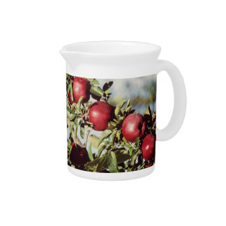 Vintage Apple Tree Beverage Pitcher