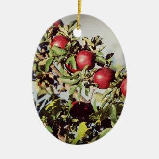 Vintage Apple Tree Ceramic Ornament