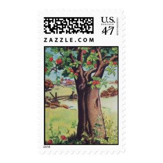 Vintage Apple Tree Stamp