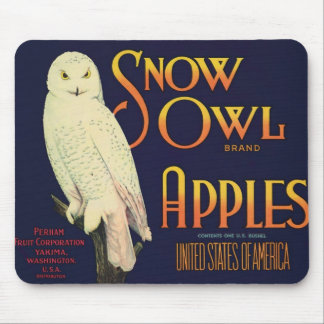 Vintage Apples Food Product Label Mouse Pad