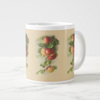 Vintage apples giant coffee mug