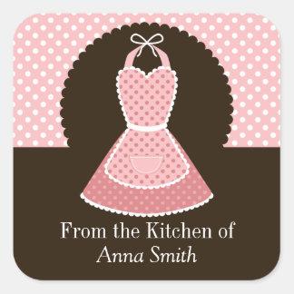 Vintage Apron Kitchen Label Square Sticker