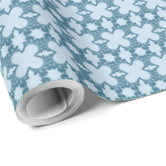 Vintage Aqua Blue Valentine's Day Wrapping Paper
