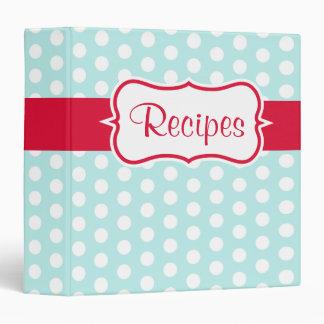 Vintage Aqua Recipe Organizer Kitchen Binder Gift