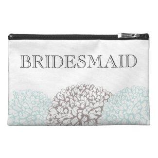 Vintage Aqua Zinnia Bridemaid's Make Up Bag Travel Accessories Bags