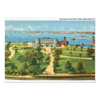 Vintage Aquarium, Battery Park, New York City Card