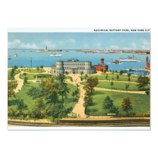 Vintage Aquarium, Battery Park, New York City Invite