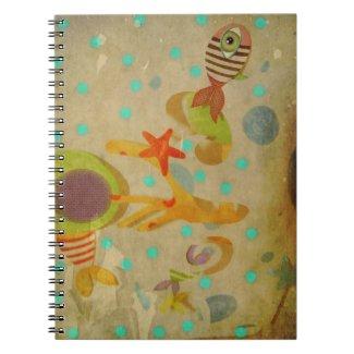 Vintage Aquarium Notebook