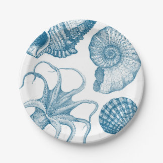 Vintage Aquatic 7 Inch Paper Plate