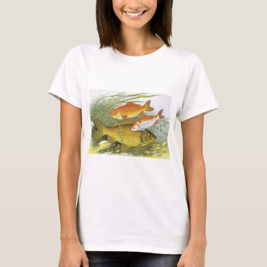 Vintage Aquatic Goldfish Koi Fish, Marine Sea Life T-Shirt