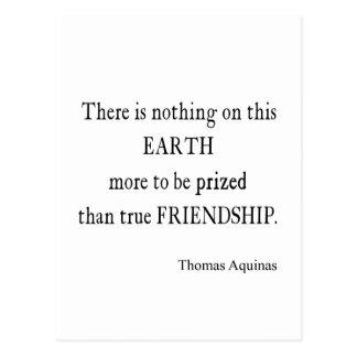 Vintage Aquinas Friendship Inspirational Quote Postcard