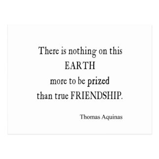 Vintage Aquinas Friendship Inspirational Quote Post Card