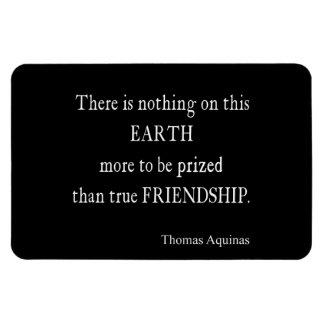 Vintage Aquinas Friendship Inspirational Quote Rectangular Photo Magnet