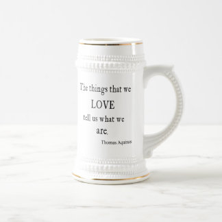 Vintage Aquinas  Love Inspirational Quote / Quotes Mugs