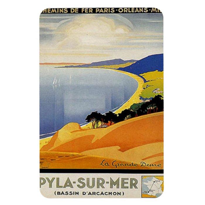 Vintage Aquitaine, Pyla-sur-mer, France - Rectangular Photo Magnet