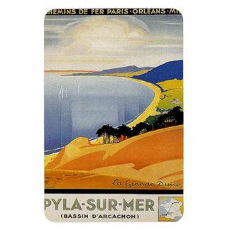 Vintage Aquitania, Pyla-sur-MER, Francia - Imán Flexible