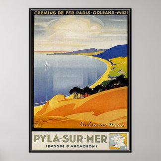 Vintage Aquitania, Pyla-sur-MER, Francia - Poster