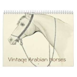 Vintage Arabian Horses Calendar