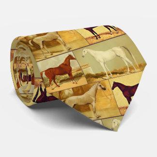 Vintage  Arabian horses - collage Tie