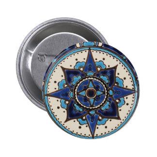 Vintage ARABIC tile Iznik, Turkey, 16th century Button