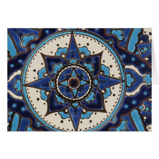 Vintage ARABIC tile  Iznik, Turkey, 16th century Greeting Card