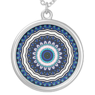 Vintage ARABIC tile Iznik, Turkey, 16th century Silver Plated Necklace