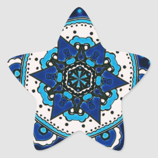 Vintage ARABIC tile Iznik, Turkey, 16th century Star Sticker