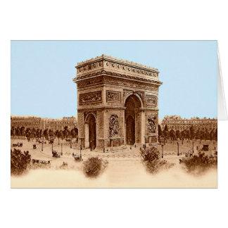 Vintage Arc de Triomphe Notecards Card