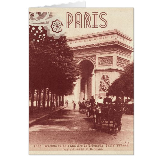 Vintage Arc De Triomphe, Paris, 1903 Card