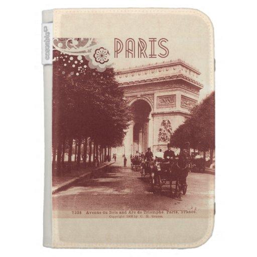 Vintage Arc De Triomphe, Paris, 1903 Kindle Keyboard Case