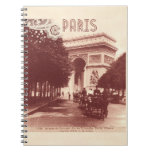 Vintage Arc De Triomphe, Paris, 1903 Notebook