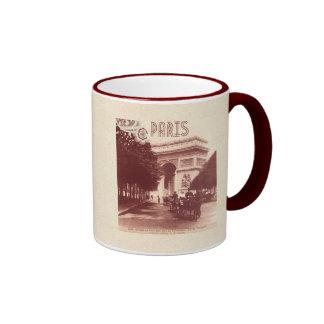 Vintage Arc De Triomphe, Paris, 1903 Ringer Mug