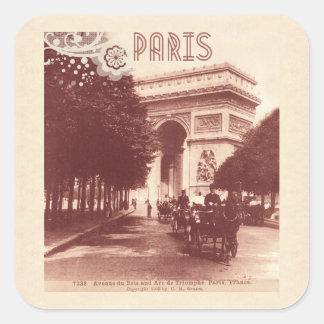 Vintage Arc De Triomphe, Paris, 1903 Square Sticker