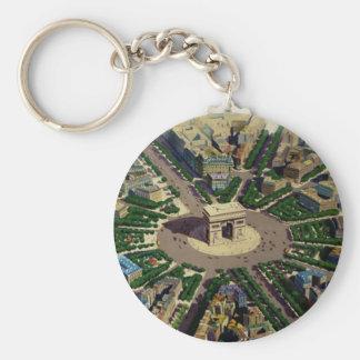 Vintage Arc de Triomphe Paris Keychain