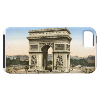 Vintage Arc de Triomphe, Paris street scene iPhone SE/5/5s Case